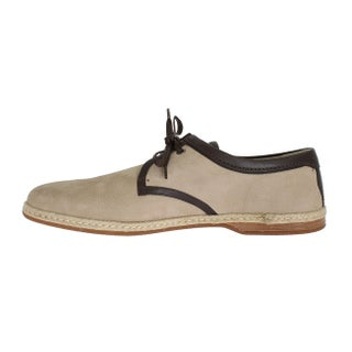 Dolce & Gabbana Beige Brown Leather Shoes - eu44-us11
