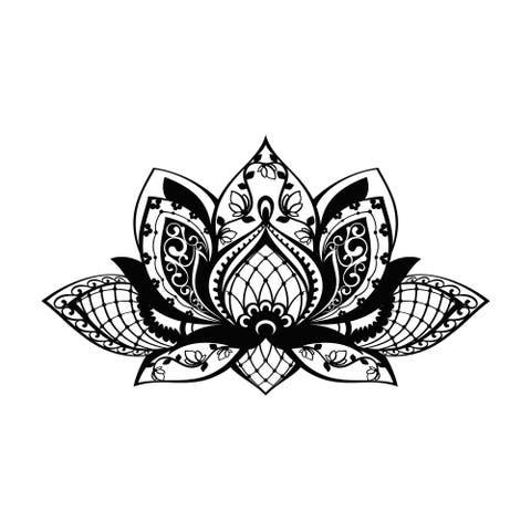 Lotus Wall Decal Mandala Decor