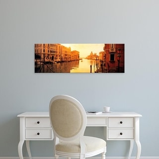Easy Art Prints Panoramic Image 'Buildings along a canal, Ponte dell'Accademia, Grand Canal, Venice, Italy' Canvas Art