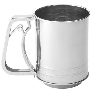 Mrs Anderson's 702 Baking Squeeze Sifter, 3-Cup, Stainless Steel