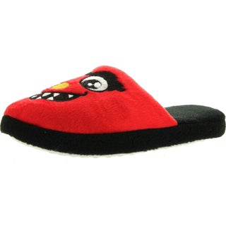 Static Footwear Boys Fun Monster Character Open Back House Slippers (Option: Red - 12-13 us little kid's - Synthetic)