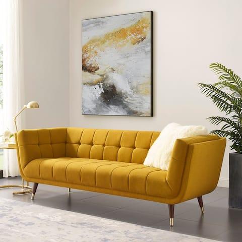 Art-leon Modern Tufted Fabric Soft Sofa with Wood Legs