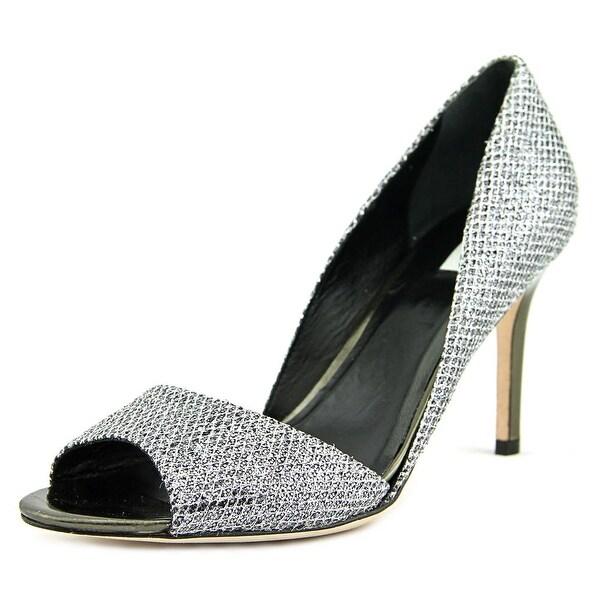 73a7a862bd0cb7 Shop Cole Haan Antonia OT Pump Women Open-Toe Synthetic Silver Heels ...