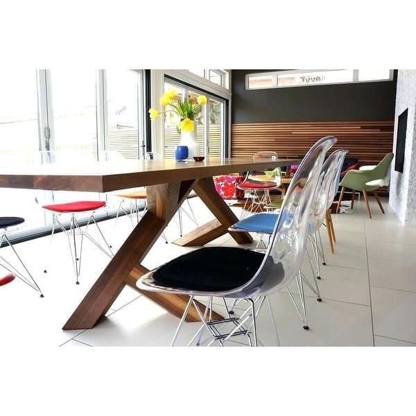 Shop 2xhome Set of 2 Modern Designer Style Transparent ...