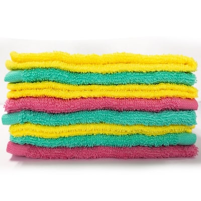 Style Quarters washcloth pack 8PC PINK