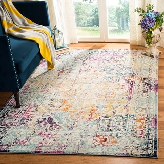 Link to Safavieh Madison Hafsah Vintage Boho Oriental Rug Similar Items in Living Room Chairs