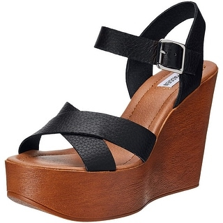 Link to Steve Madden Womens Piranna Leather Open Toe Casual Platform Sandals Similar Items in Women's Shoes