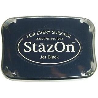 StazOn Solvent Ink Pad Large Jet Black