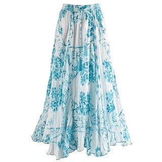"Women's Cayman Ocean Broomstick Crinkle Skirt - 33"" Long"