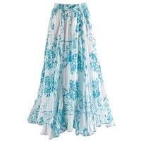 "Women's Cayman Ocean Broomstick Crinkle Skirt - 33"" Long"