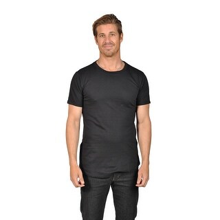 Mens Solid Color T-Shirt with Side Zipper