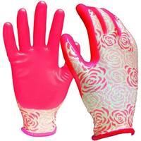 Digz 7603-26 Stretch Knit Garden Gloves, Pink
