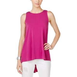 Vince Camuto Womens Blouse High-Low Pleated Back