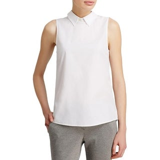 Theory Womens Casual Vest Collar Sleeveless - l