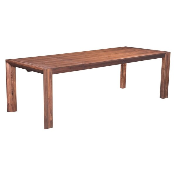 Zuo Modern 100588 Perth 75 Long Urban Rustic Dining Table Chestnut