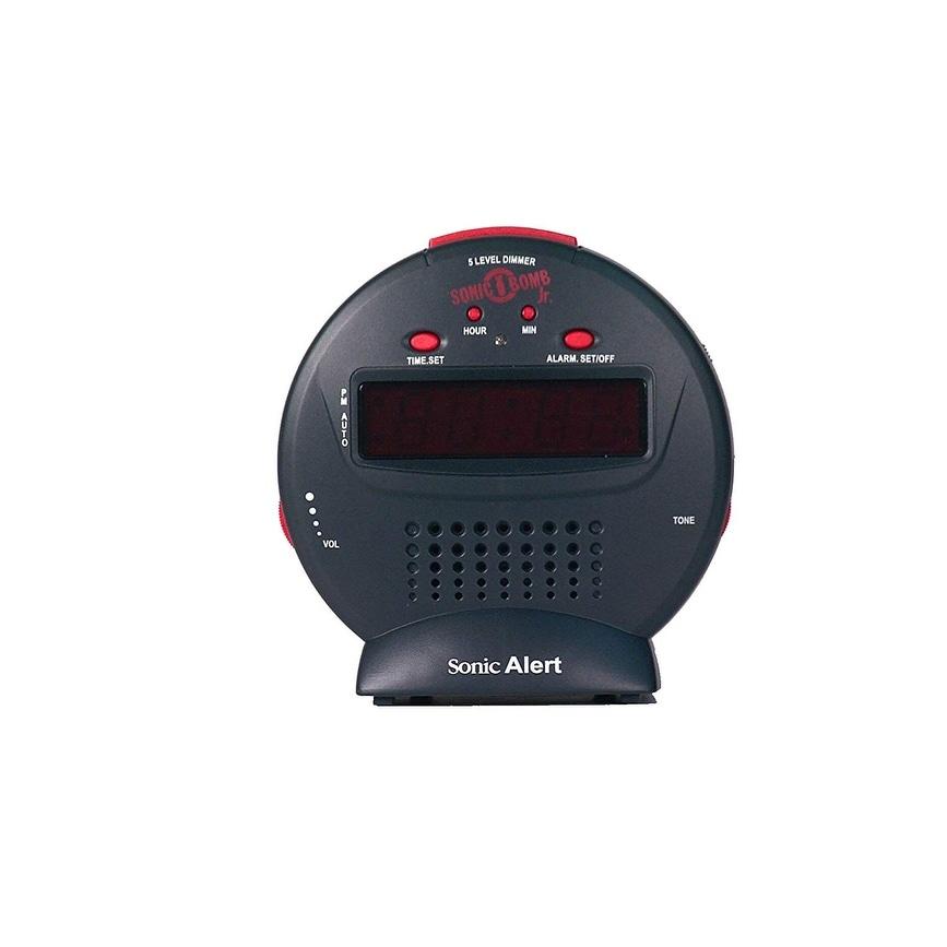 New Black//Red Sonic Alert SBJ525ss Sonic Bomb Jr. Free Shipping