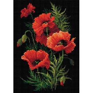 """Riolis Diamond Mosaic Embroidery Kit 10.75""""X15""""-Poppies"""