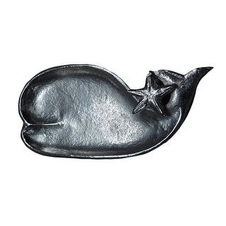 Whale and Starfish Shaped Serving Dish Aluminum 8.25 Inches