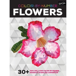 Walter Foster Creative Books-Color By Number - Flowers