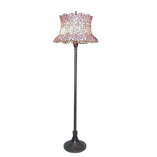 Meyda Tiffany 72160 Three Light Up Lighting Floor Lamp from the Blooming Rose Field Collection