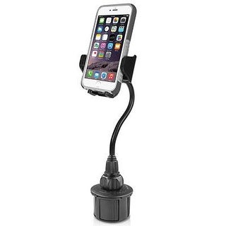 "Macally Car Cup Holder Phone Mount With A Flexible Extra Long 8"" Neck For Iphone 7 / 7 Plus / 6 / 6+, Samsung, Etc. (Mc"