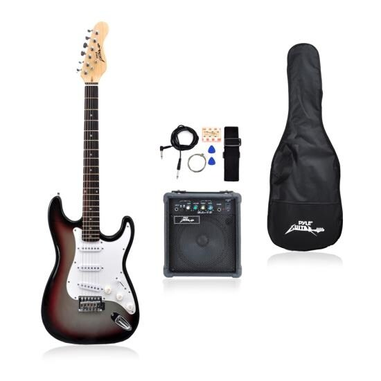 shop beginners electric guitar kit includes amplifier accessories grey free shipping. Black Bedroom Furniture Sets. Home Design Ideas
