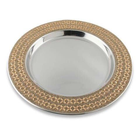 Sparkles Home Madison Avenue Rhinestone Charger Plate
