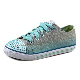 Skechers S Lights-Chit Chat-Sweet Surprise Round Toe Canvas Sneakers
