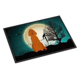 Carolines Treasures BB2254JMAT Halloween Scary Irish Setter Indoor or Outdoor Mat 24 x 0.25 x 36 in.