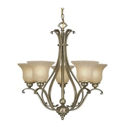Vaxcel Lighting CH35405 Monrovia 5 Light Single Tier Chandelier with Frosted Glass Shades - 26 Inches Wide
