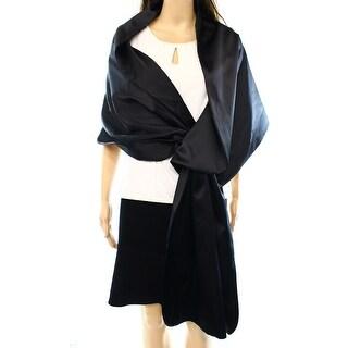 Adrianna Papaell NEW Deep Satin Black One Size Pull-Through Shawl/Wrap