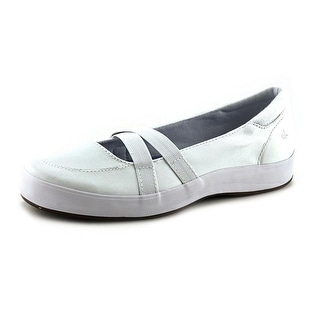 Grasshoppers Juniper Women Round Toe Canvas White Mary Janes