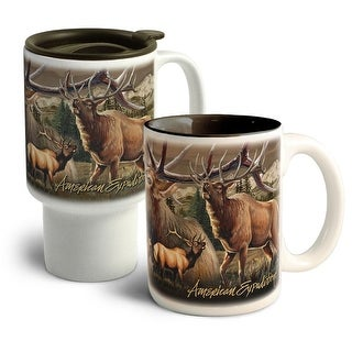 American Expedition Elk Collage Home&Away Stoneware Mug Set - CM-CT-304