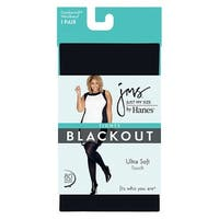 Just My Size by Hanes Blackout Tight - Size - 1X/2X - Color - Black