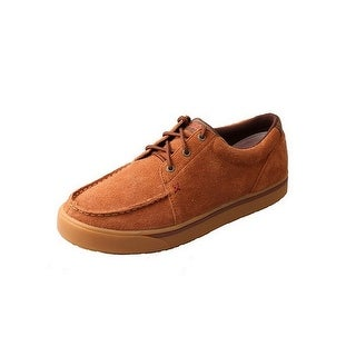 HOOey Casual Shoes Mens Rough Out Rubber Outsole Lace Up Brown MHYC010