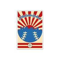 Philadelphia Phillies Vintage MLB Poster Matte Poster 16x24