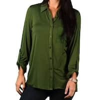 Zac & Rachel Misses Sheer Pocket Blouse