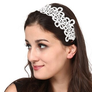Mad Style White Teardrops Headband