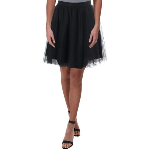 Blondie Nites Womens Juniors A-Line Skirt Mesh Clubwear