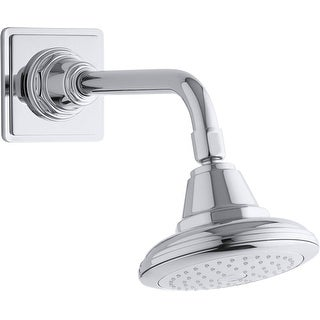 Kohler K-13137-AK  Pinstripe 2.5 GPM Single Function Shower Head with Katalyst Air-induction Technology