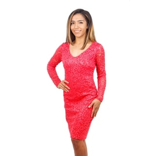 Lace Sequin Long Sleeve Dress
