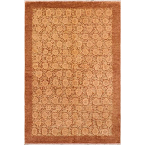 """Boho Chic Ziegler Aaron Hand Knotted Area Rug -6'0"""" x 8'1"""" - 6 ft. 0 in. X 8 ft. 1 in."""
