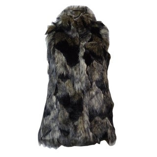 INC International Concepts Women's Patchwork Faux Fur Vest