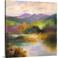 Jonas Gerard Premium Thick-Wrap Canvas entitled Gentle Waters (Lake Junaluska) 2