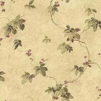 Brewster MEA79024 Trebah Sage Virginia Creeper Trail Wallpaper