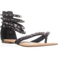 ZIGI Soho Talisa Ankle Strap Flat Sandals, Black
