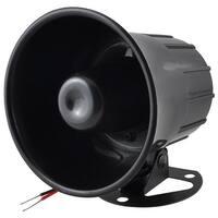 Unique Bargains Black Loud Universal Car Security Alarm Siren Horn DC 12V 15W