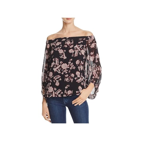 Bardot Womens Blouse Off-The-Shoulder Floral Print