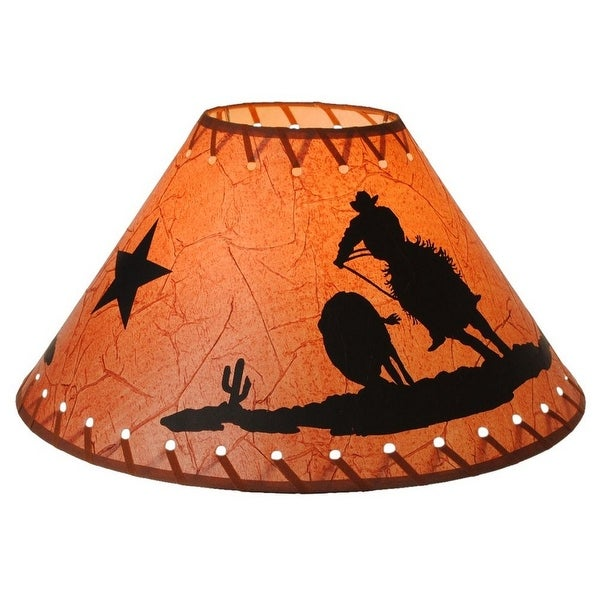 Gift corral western cowboy lamp shade barrel racer 15 brown gift corral western cowboy lamp shade barrel racer 15 brown mozeypictures Gallery