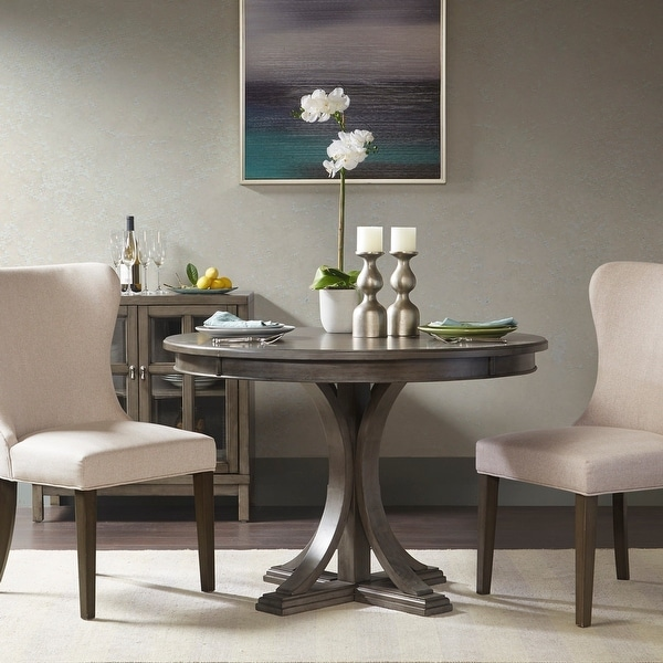 Madison Park Signature Helena Grey Round Dining Table. Opens flyout.